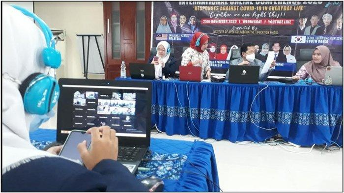 SMKN 6 Palembang Wakili Indonesia Dalam Ajang International Conference Online