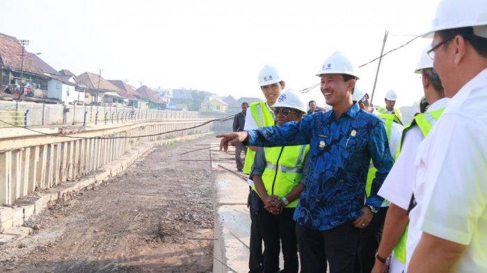 Harnojoyo Tinjau Proyek Pompanisasi Sungai Bendung