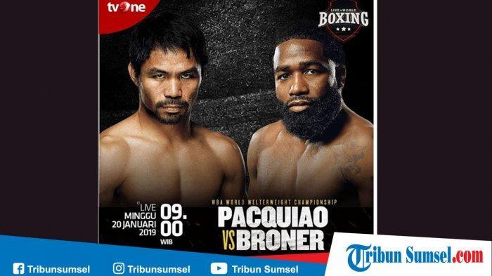 Link Live Streaming (TV Online) TV One Pacquiao vs Broner Minggu (20/1) Pukul 09.00 WIB