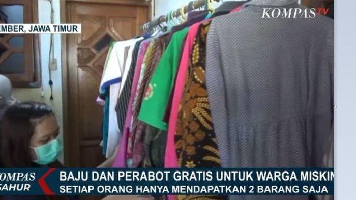 Jelang Idul FItri, Pakaian dan Perabot di Toko Ini Digratiskan untuk Warga Terdampak Corona