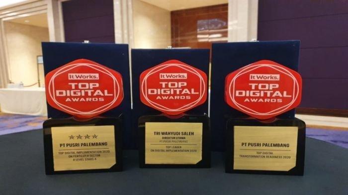 Pupuk Sriwidjaja Palembang yang merupakan anak perusahaan PT Pupuk Indonesia (Persero) kembali menuai prestasi pada ajang Top Digital Awards 2020.
