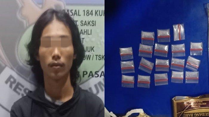 Kerap Transaksi Narkoba di Belakang Pasar Prabumulih, Pengedar Diringkus Polisi