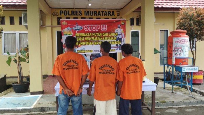 Jangan Coba-coba, Polisi Tangkap Tiga Warga Bakar Lahan di Muratara, Pemilik Lahan Masih Dicari