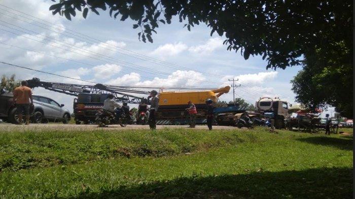 Update Macet di Tol Palindra Arah Indralaya, Truk Crane Berhasil Digeser, Lalu Lintas Kembali Normal