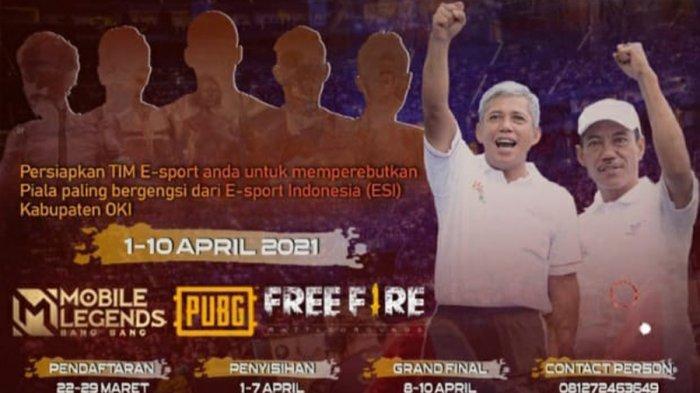 Turnamen E-Sports di Kabupaten Ogan Komering Ilir, Hadiah Senilai Puluhan Juta.