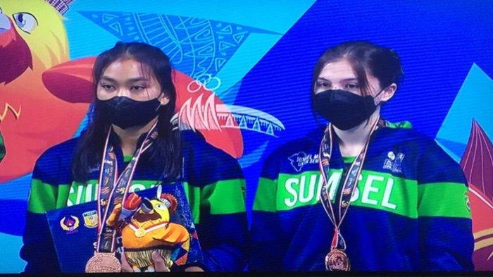 Atlet Loncat Indah Amanah-Rasti Tambah Perolehan Medali untuk Sumsel di PON XX Papua 2021