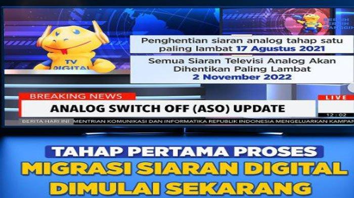 TV Analog Adalah Apa? Mulai 17 Agustus 5 Daerah Ini Tidak Bisa Lagi Menikmati Siaran TV Analog