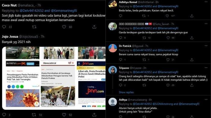 Lanjutan Protes Warganet soal Unggahan Pernikahan Atta-Aurel di Akun Twitter Sekretariat Negara, Minggu (4/4/2021)