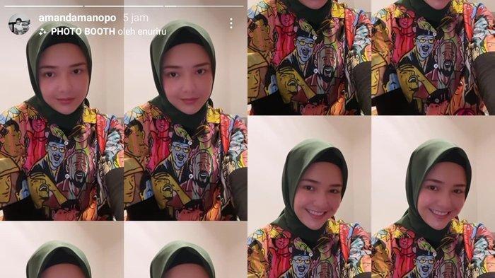 Unggahan Amanda Manopo memakai hijab