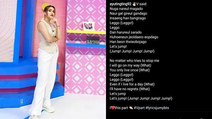 Ayu Ting Ting Balas Petisi Di-Blacklist dari TV dengan Lirik Lagu BTS - JUMP, Disebut Tak Pantas