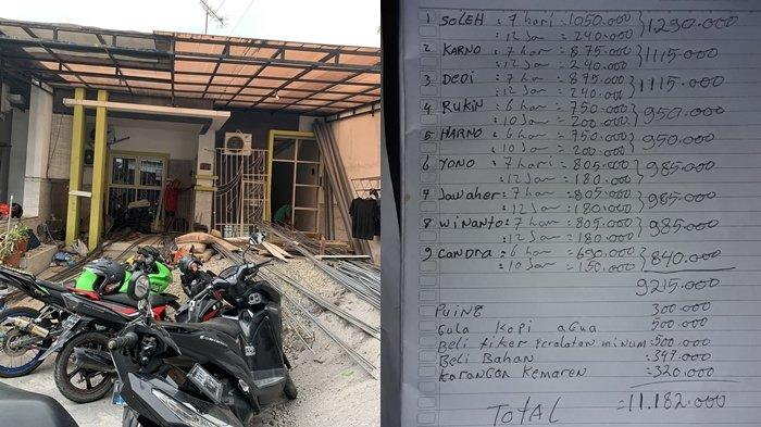 Unggahan Rincian Gaji Kuli Bangunan Dapat Capai Jutaan Rupiah dalam Seminggu Viral di Media Sosial