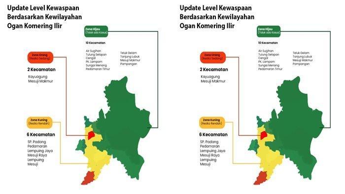 Update Sebaran Kasus Covid-19 di Kabupaten Ogan Komering Ilir, Bertambah 34 Orang