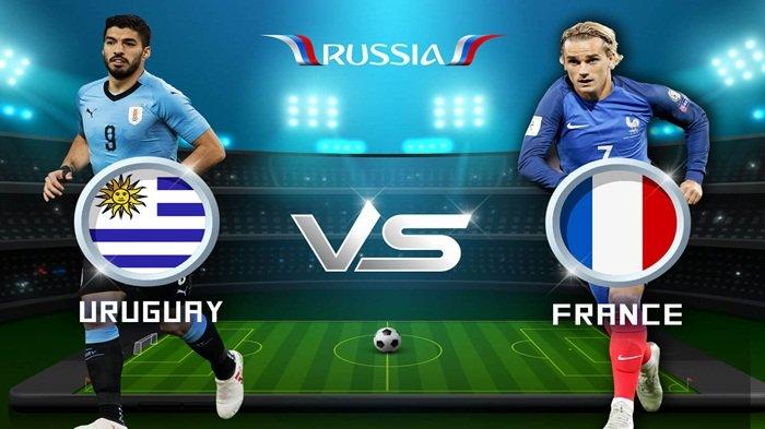 Siaran Langsung Trans TV! Live Streaming Uruguay vs Prancis Malam ini Pukul 21.00 WIB