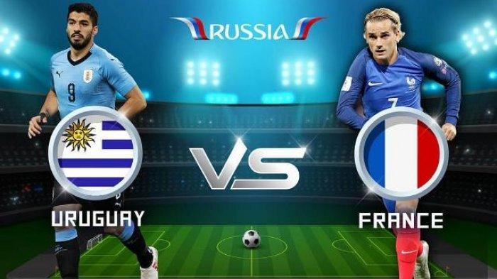 Jadwal Lengkap Live Perempat Final Piala Dunia 2018, Malam ini Uruguay vs Perancis