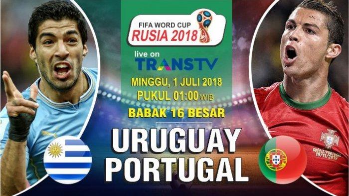 Nonton Live Streaming Piala Dunia Uruguay Vs Portugal di HP via Indosat, XL dan Telkomsel
