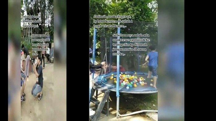 Aksi Youtuber Dikecam Publik, Tempat Bermain Trampolin Tidak Diijinkan Anak Lain Masuk