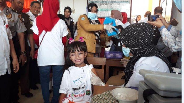Realisasi Vaksin MR Baru 40 Persen di Sumatera Selatan