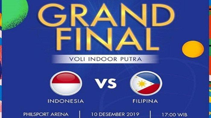 SIARAN LANGSUNG Final Voli Putra SEA Games 2019 Indonesia vs Filipina di MNC TV, Pukul 17.00 WIB