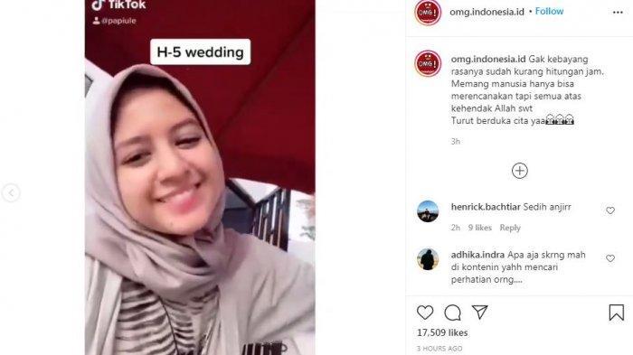 Video viral bikin nyesek calon pengantin wanita ditinggal selamanya jelang hitungan jam pernikahan