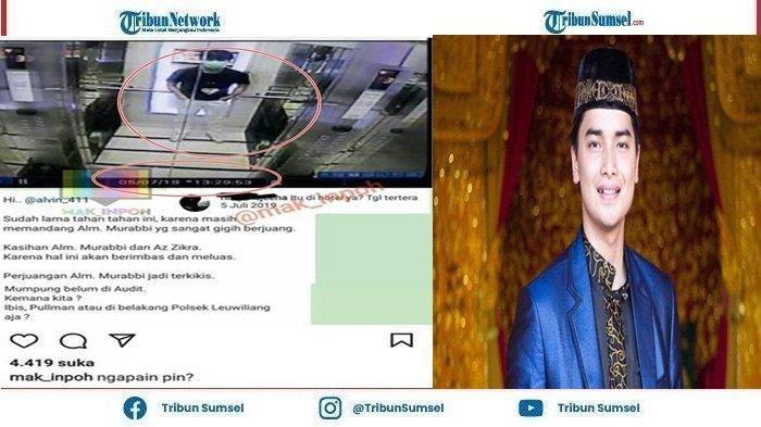 Kini Beredar Foto Diduga Alvin Faiz Disebuah Lift Yang Diduga Juga Sebuah Hotel, Terlihat Waktu Rekaman Foto Tersebut 5 Juli 2019, pukul 13:29:53,Selasa(17/8/2021).Beberapa Warganet Memberi Komentar Di Instagram mak_inpoh