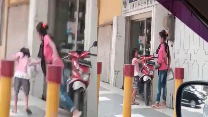 Viral, Aksi Kekerasan Pada Bocah Perempuan Diduga Pengamen di Palembang