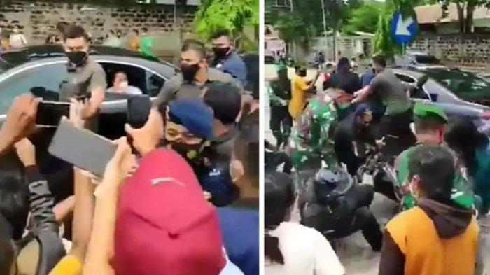 Detik-detik Mobil Presiden Jokowi Diserbu Emak-emak saat Berada di Sumba, Motor Paspampres Didorong.