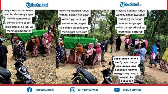 Viral Video Perempuan Gotong Keranda Jenazah ke Kuburan Agar Wabah Covid-19 Lenyap
