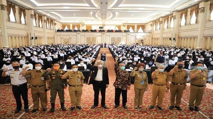 Wagub Mawardi Tinjau Pelaksanaan SKD CPNS Pemprov Sumsel 2021