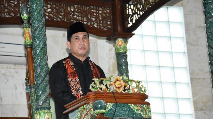 Shalat Ied di Masjid Agung Assalam , Walikota Lubukliggau Minta Masyarakat Tak Open House