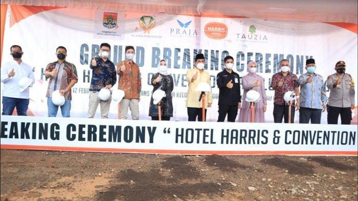 Wali Kota Prana Sohe Letakkan Batu Pertama Pembangunan Harris Hotel & Convention Hall Lubuklinggau