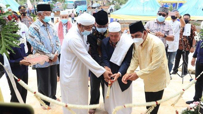 Wali Kota Lubuklinggau meresmikan Masjid An-Nasir Sohe di Jl. Lingkar Utara, Kelurahan Batu Urip, Kecamatan Lubuklinggau Utara II, Kota Lubuklinggau Sumsel,Jum'at (12/2/2021).