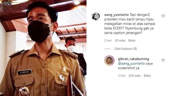 Baru Jabat Walikota Solo, Gibran Rakabuming Sudah Buat Netizen di Komentar IGnya Panik, Ceritanya