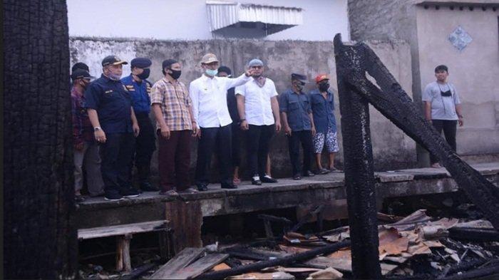 Walikota Palembang Harnojoyo Segera Bangun Kembali Rumah Korban Kebakaran di Tangga Buntung