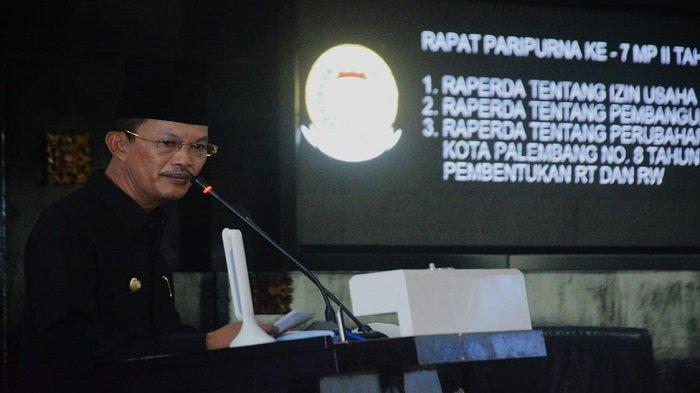 Walikota dan Wawako Kota Palembang Hadiri Rapat ParipurnaDPRD