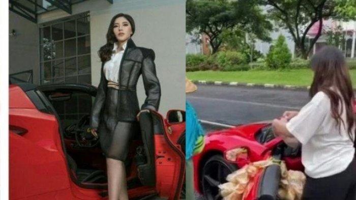 Bagikan Nasi Bungkus pada Ojol dan Tukang Parkir sambil Naik Ferrari, Video Ini Viral, Ada Kerupuk