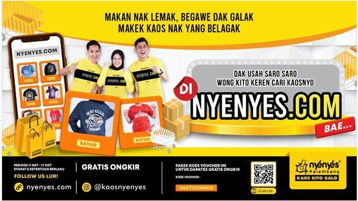 Beli Kaos di nyenyes.com, Gratis Ongkir Berlaku Hingga 17 Oktober