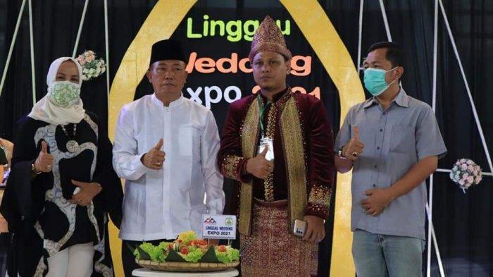 Asisten I Setda Kota Lubuklinggau Buka Acara Linggau Wedding Expo 2021 di di GOR Megang
