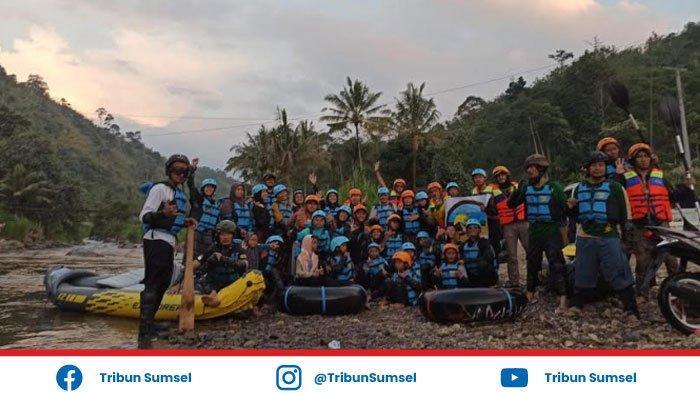 Arung Jeram River Tubing Desa Muara Sindang, Wisata Alam Baru di OKU Selatan