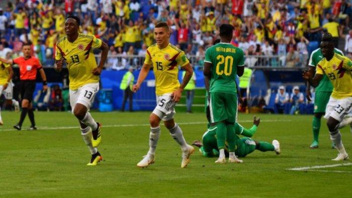 Piala Dunia 2018 Rusia - Kolombia Lolos ke Babak 16 Besar, Usai Menang Tipis Atas Senegal