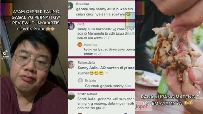 Youtuber Felix Kurniawan Sebut Ayam Geprek Gagal Milik Artis Viral, Nama Shandy Aulia Terseret
