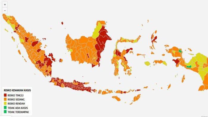 Data Penambahan Kasus Covid 22 Juli : Tersebar di 34 Provinsi, Sumsel 806 Kasus, Jabar 10.499Kasus