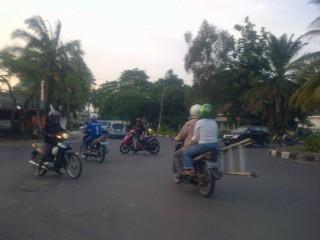 Traffic Light Jalan dr Cipto Palembang Tak Berfungsi