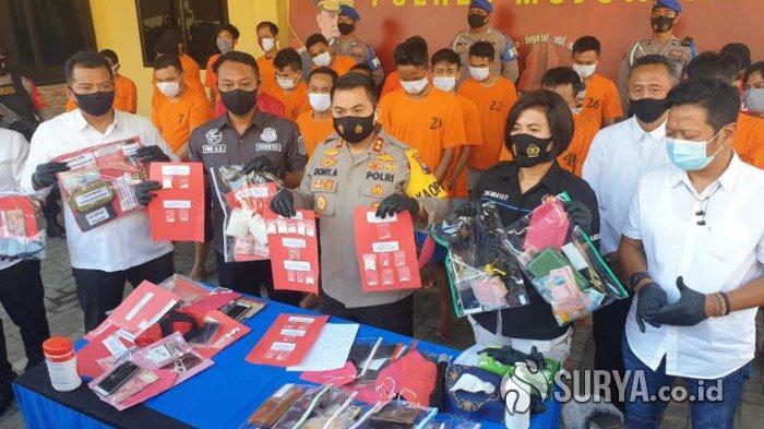 Operasi Tumpas Semeru 2020, Puluhan Pengedar Narkoba yang Sasar Pelajar di Mojokerto Dibekuk Polisi