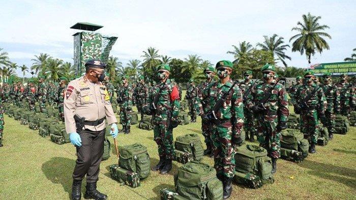 Ilustrasi 450 Prajurit Batalyon 122/Tombak Sakti tengah bersiap berangkat ke Papua