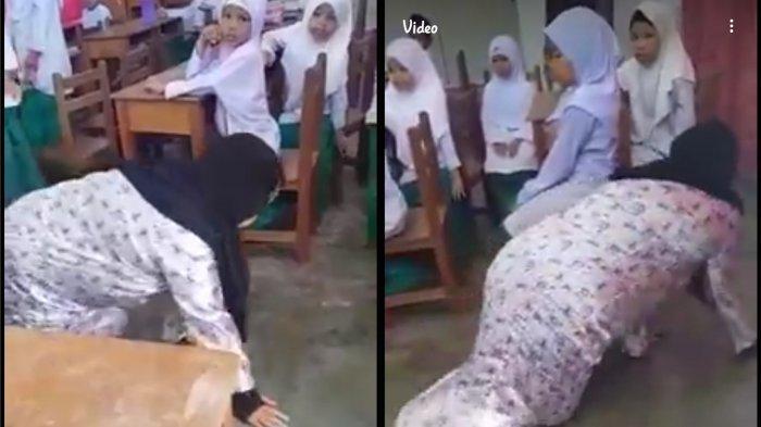 5 Fakta Video Bu Guru Merangkak di Dalam Kelas, Disuruh Wali Murid Karena Tak Terima Anaknya Dihukum