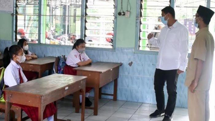Wali Kota Kediri Abdullah Abu Bakar, Sidak Uji Coba Pembelajaran Tatap Muka Terbatas