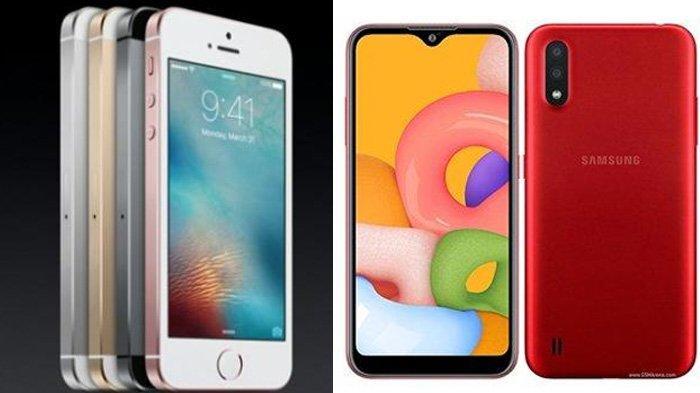 Adu Spesifikasi Samsung Galaxy A01 Vs iPhone SE 2, Harga Sama-sama Ramah Kantong untuk HP Kelas Atas