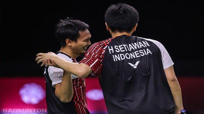 Ahsan Hendra memastikan diri lolos ke babak final BWF World Tour Finals