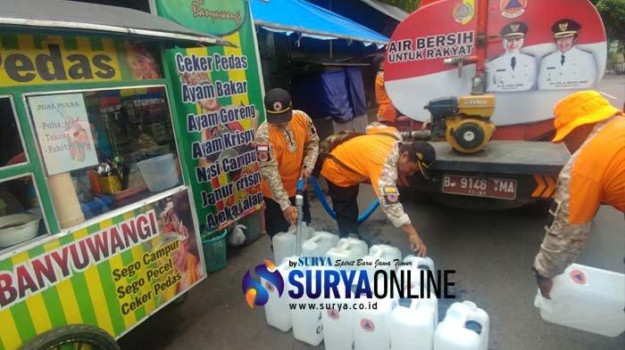 BPBD Jember Distribusi Air Bersih dan Sosialisasi KLB Hepatitis A