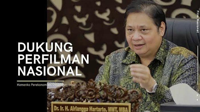 Menko Airlangga Hartarto Mendukung Industri Perfilman dan Kampanye Menonton Bioskop dengan Aman